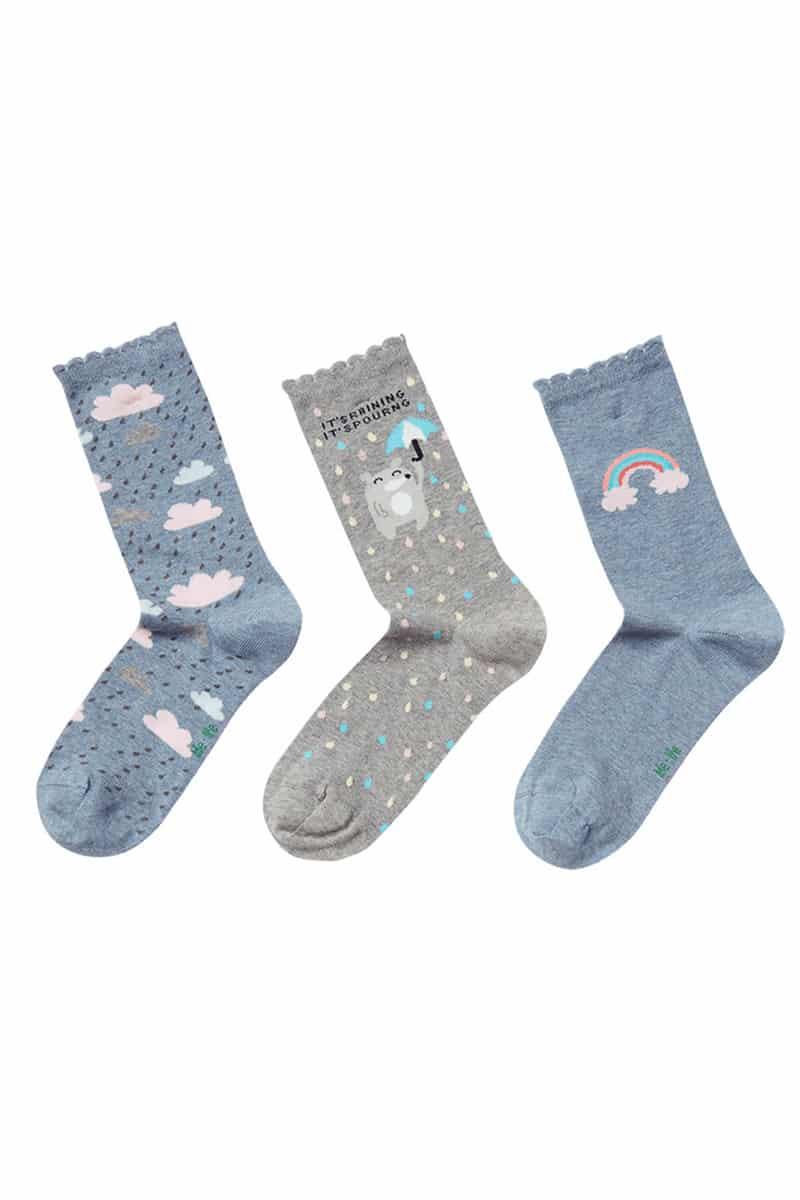 Γυναικείες Κάλτσες Βαμβακερές Rainbow - esorama.gr
